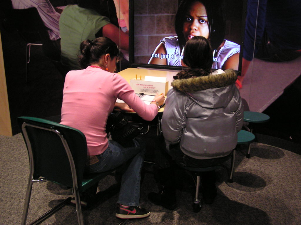 Writing reflections in an exhibition about race